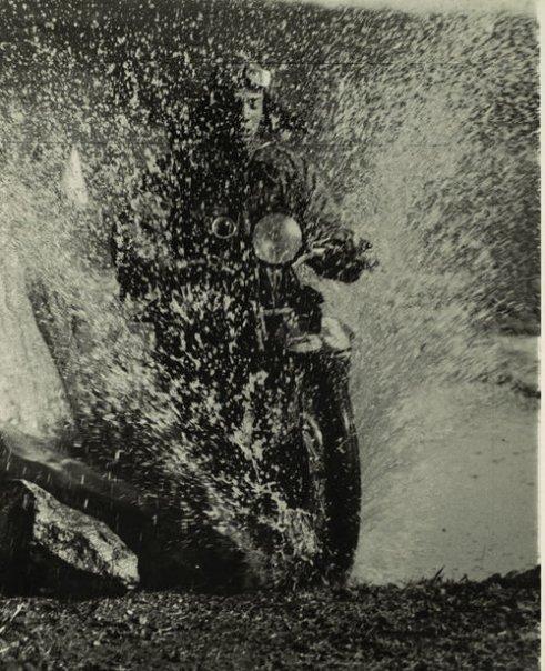 Motorcyclist - Martin Munkacsi, Budapest, 1923